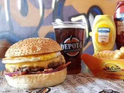 Combo R$30: Burger Regular Beef + Drink de Chá Lipton + Batata McCain
