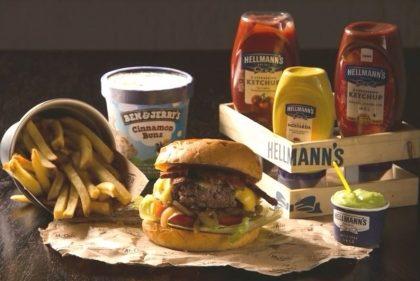 Combo R$40: Burger + Chá Gelado Lipton + Batata McCain + Sorvete Ben & Jerry's