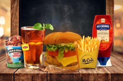 Combo R$40: Burger MANHATTAN com Bonduelle + Drink de Chá Lipton + Batata McCain + Ben & Jerry's
