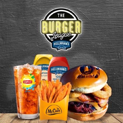 Combo R$30: Burger (3 opções) + Chá Gelado Lipton + Batata McCain