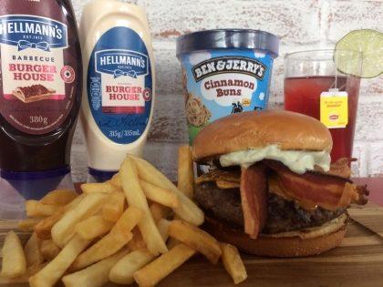Combo R$40: Boca Burger + Drink de Chá Lipton + Batata McCain + Sorvete Ben & Jerry's