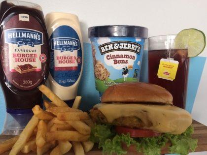 Combo R$40: Veggie Burger com Bonduelle + Drink de Chá Lipton + Batata McCain + Ben & Jerry's