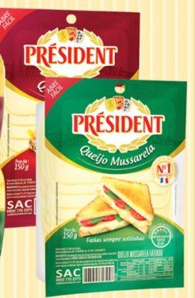 20% de desconto no Queijo Mussarela ou Prato Fatiado PRÉSIDENT!