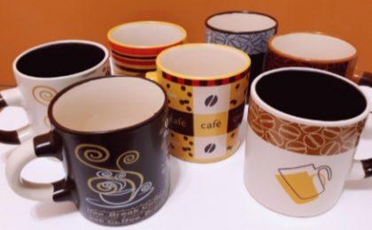 Canecas de cerâmica de 110ml com 20% de desconto!