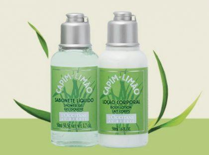 GANHE Duo Viagem Capim Limão nas compras acima de R$100 no site da L'Occitane!
