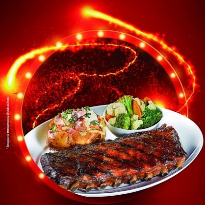 Raposo: Rock Original Barbecue Ribs  (especialidade da casa) por R$ 49,00