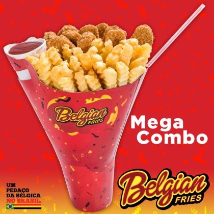 Mega Combo: 2 porções de Fritas, Frango ou Churros + Bebida + Molho por R$ 20,00
