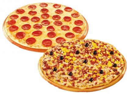 1 Pizza Família Parmê + 1 Pizza Calabresa por apenas R$ 49,50