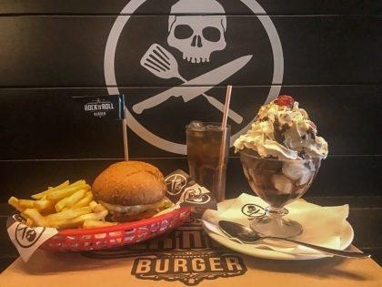 Qualquer Burger do Cardápio + 1⁄2 Fritas + Lemonade Refil + Sorvete por R$34,90