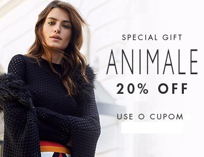 Cupom de 20% OFF em produtos Animale na Shop2gether!