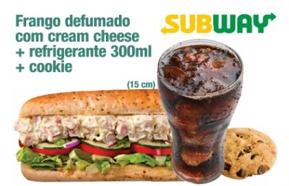 Frango Defumado com Cream Cheese + Refrigerante + Cookie por R$ 23,00!