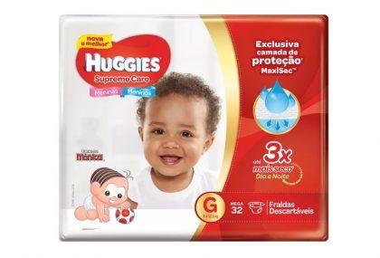 Fraldas HUGGIES Supreme Care com 30% de desconto!