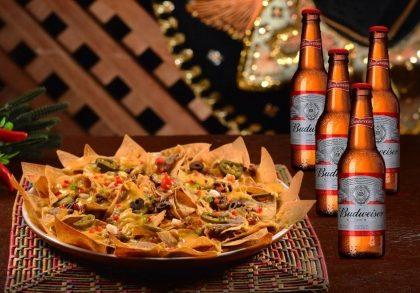 Combo Fiesta (Super Nacho 1kg + Balde com 4 Cervejas Budweiser) por R$ 59,50