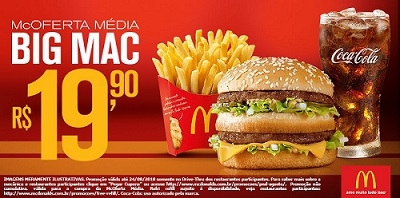 Drive-Thru: McOferta Média Big Mac R$19,90