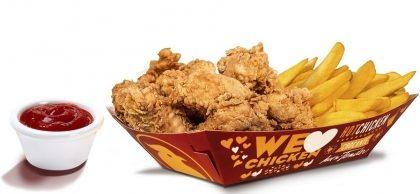 10 Chicken Fingers com Batata Frita + 1 Molho à escolha por R$ 23,90
