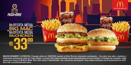 Drive-Thru: McOferta Média Big Mac + McOferta Média McChicken R$33,00