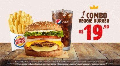 Combo Veggie Burger por R$ 19,90