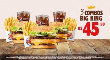3 Combos Big King por R$ 45,00