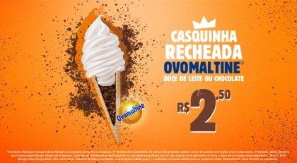 Casquinha Recheada Ovomaltine por R$ 2,50
