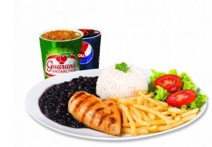 Center 3: Filezinho + Arroz + Feijão + Fritas ou Purê + Salada + Refri por R$ 15,90!