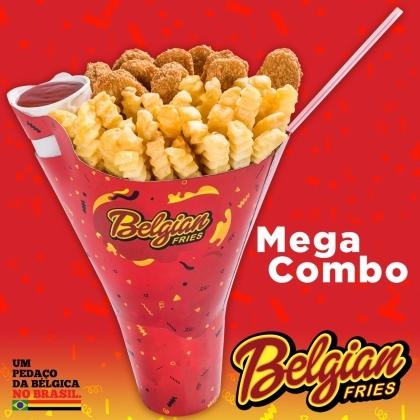 Mega Combo: 2 porções de Fritas, Frango ou Churros + Bebida + Molho por R$ 19,50!