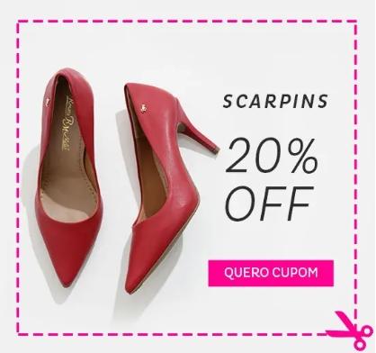 Cupom de 20% OFF em Scarpin no site da Marisa!