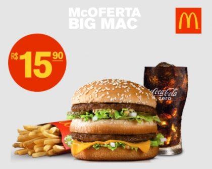 (Top Center) McOferta Big Mac por R$ 15,90