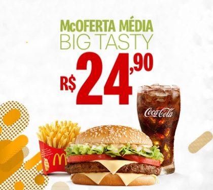 McOferta Média Big Tasty por R$ 24,90!