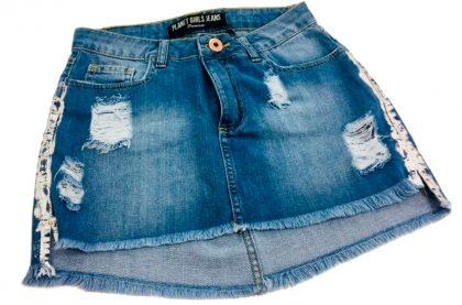 (Mais Shopping) Saia Jeans Foil Lateral Glamour por apenas R$ 49,99!