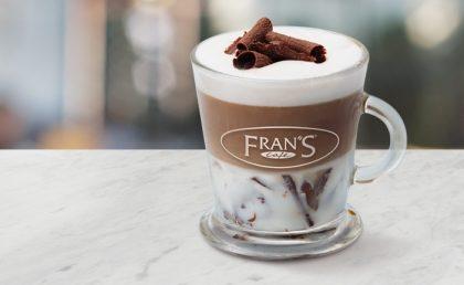 Na compra de 1 Fran's Cappuccino Chocolate Grande, GANHE outro!