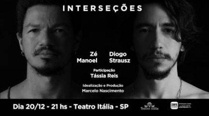 """Ingressos para """"Interseções"""", de Zé Manoel e Diogo Strausz com 50% de desconto!"""