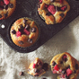 Raspberry Chocolate Chip Protein Muffins