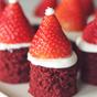 Grain Free Red Velvet Santa Hat Brownies