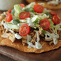 Crockpot Chicken Ranch Tostadas