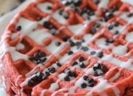 Clean Eating Red Velvet Waffles for Two