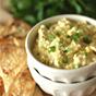 Clean Eating Creamy Egg Salad with Pita Chips