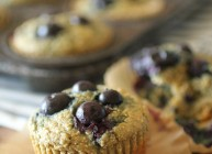 Clean Eating Blueberry Muffins