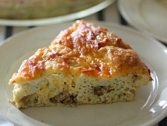 Italian Sausage & Cheese Crustless Quiche