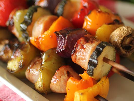 Grilled Italian Sausage Kabobs