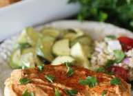 Hummus Baked Chicken & Veggies