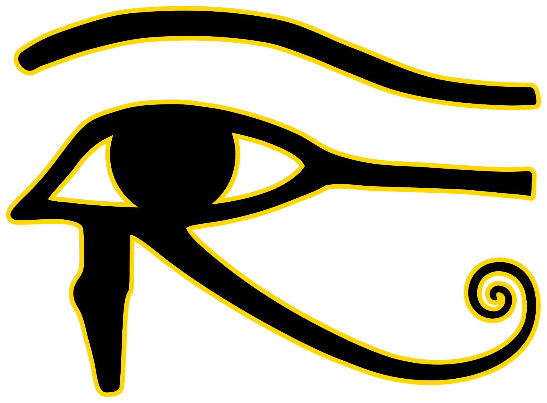 Eye of Horus - Left (I am using this in the most general sense of being a pagan eye symbol.  I love this symbol, and it appeared to me in golden laser light with my eyes closed after a particularly dramatic lucid dream.  So I use with respect for whoever sent me that symbol.)