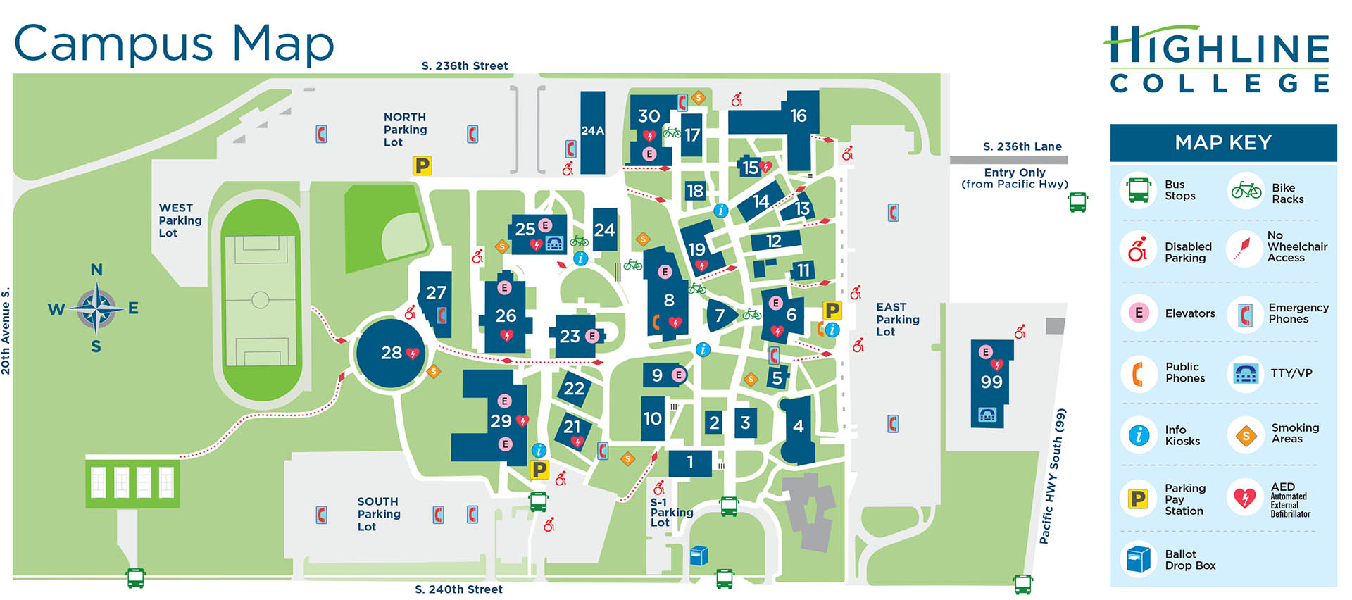 Highline College Campus Map