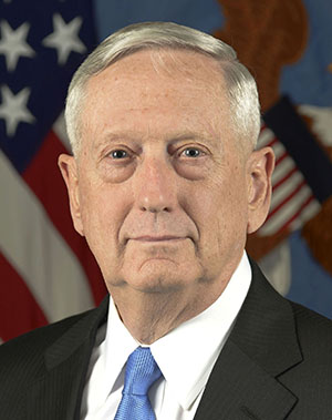 United States of America Secretary of Defense Retired Marine General James Mattis