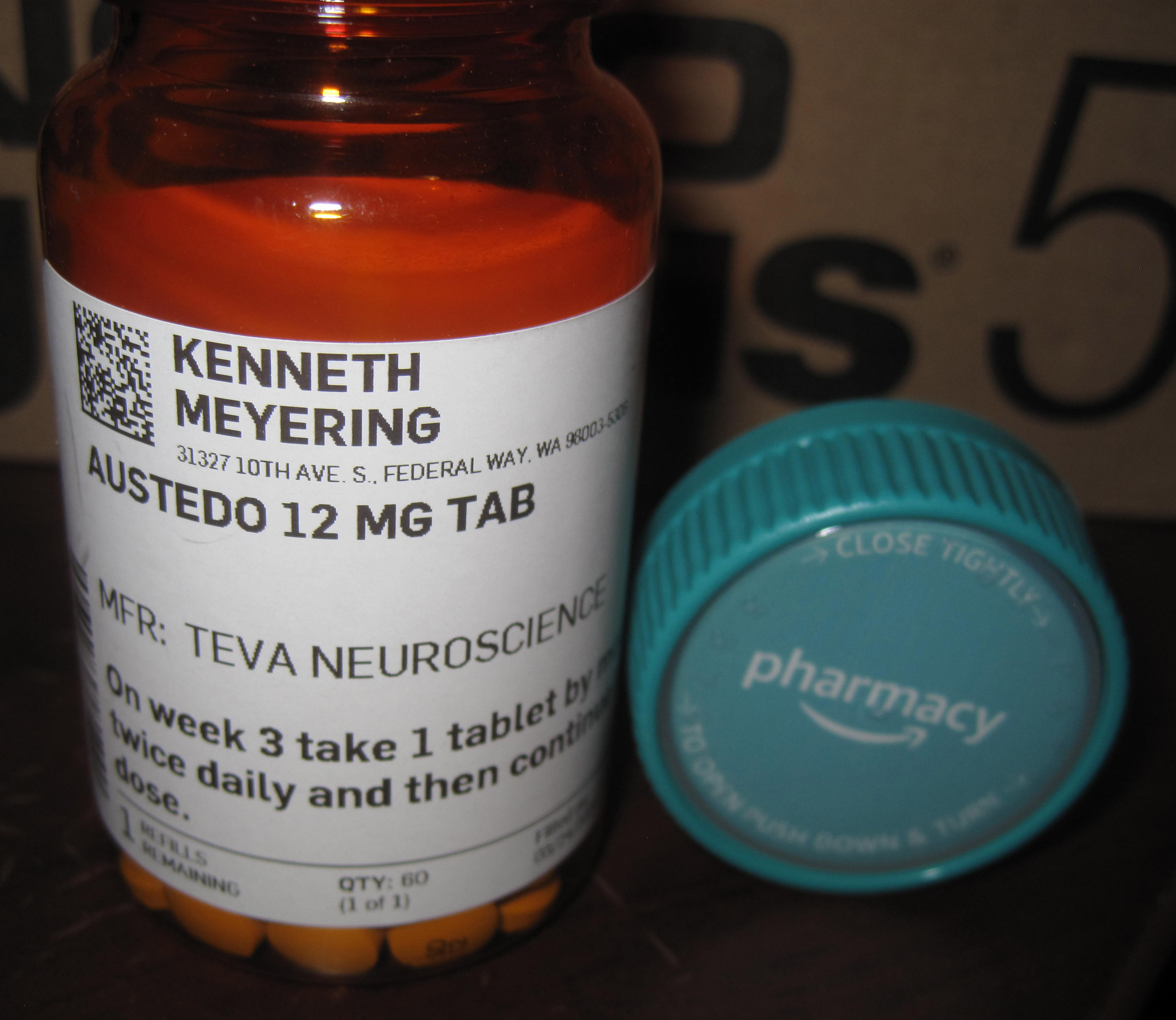 Ken's Austedo Prescription