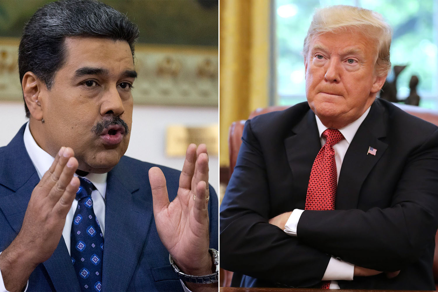 Nicolas Maduro President of Venezuela and Donald Trump - You guys are fired. We are firing both of you.