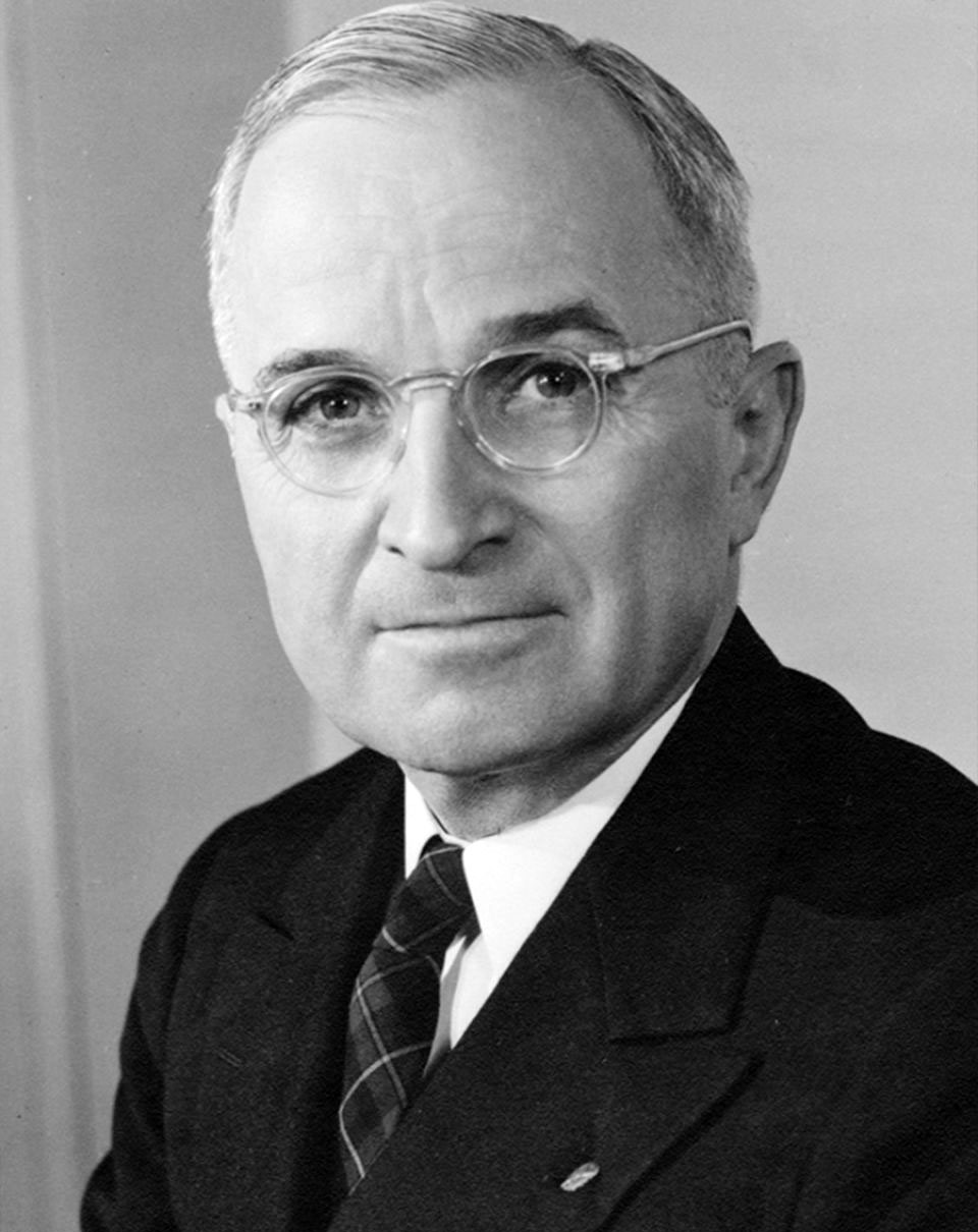 U.S. President Harry Truman - The first and only human leader to have given the orders to use the atomic bomb on other human beings. We will discuss mass market mind control here.