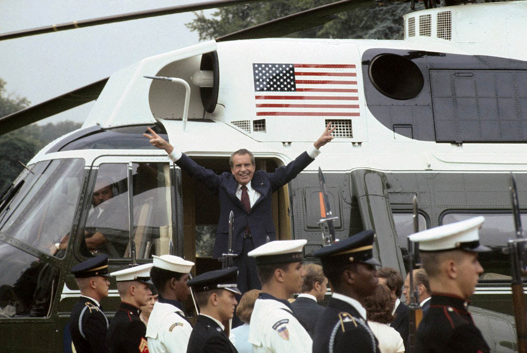 CORRUPT and DISGRACED U.S. President Richard Nixon