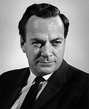 The brilliant American quantum physicist Richard Feynman