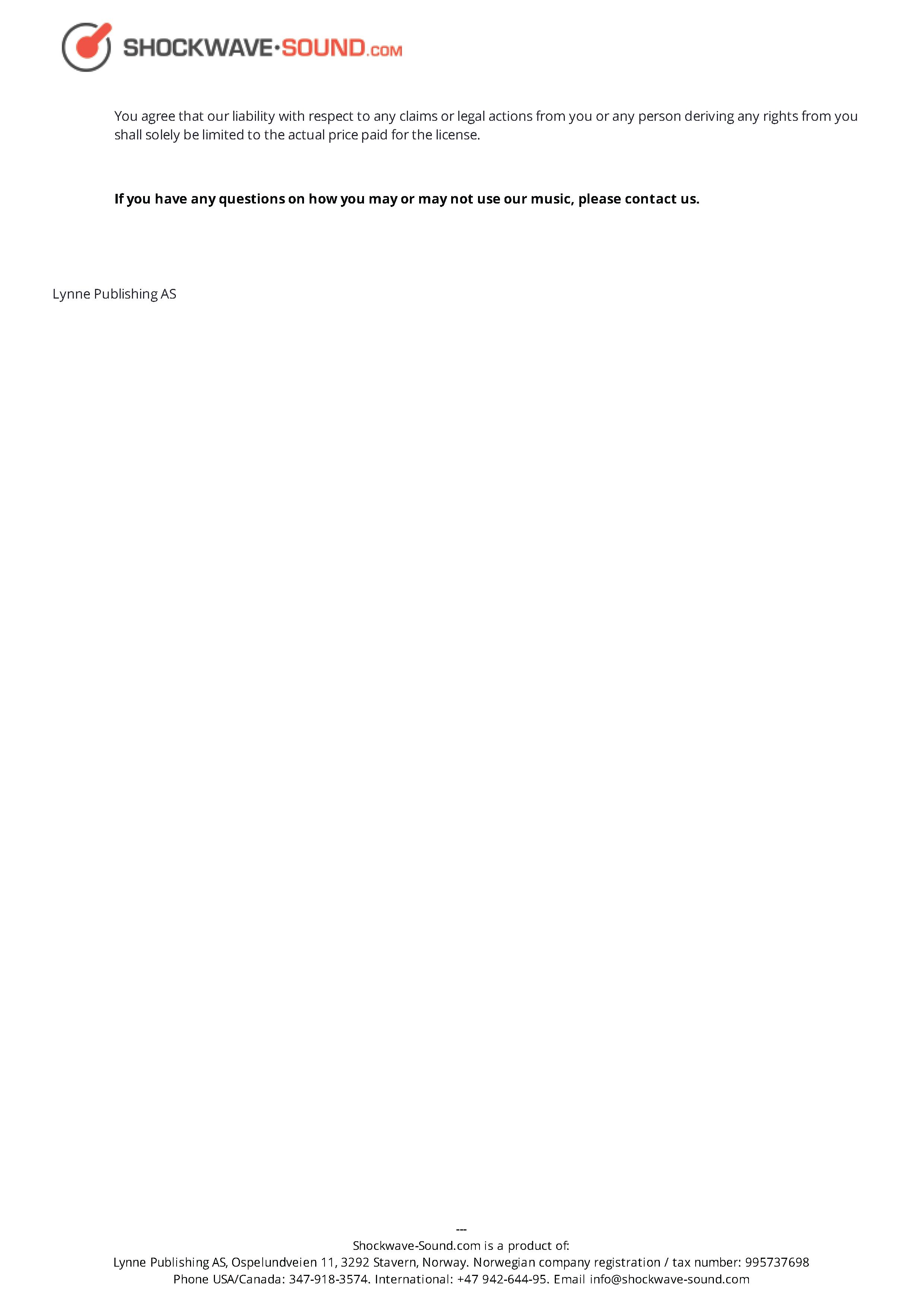 Shockwave Sound License Page 7