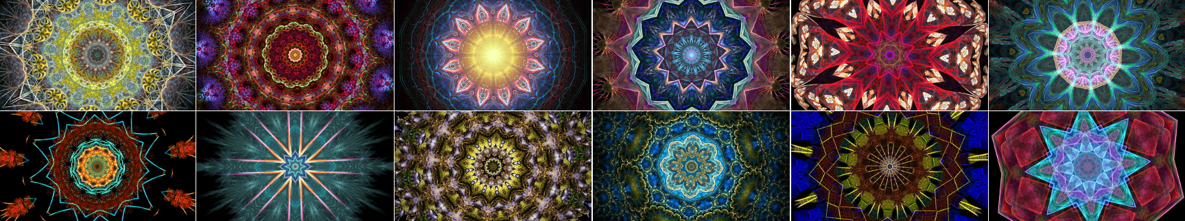 Small Screenshots from These Kaleidoscope Videos